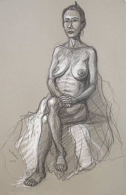 Drawing - Rain Seated #2 by Donelli  DiMaria