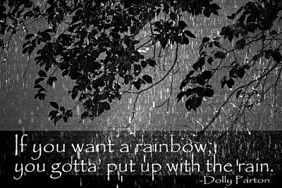 Rain Shower With Inspirational Text Art Print by Donald  Erickson