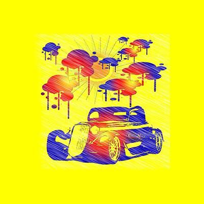 Digital Art - Rain Showers by EricaMaxine Price
