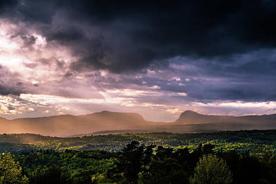 Rain Showers Over Willoughby Gap Art Print
