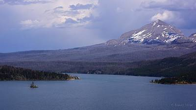 Photograph - Rain Storm Over St. Mary Lake by Tracey Vivar