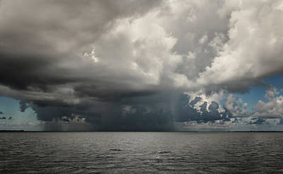 Photograph - Rain Storm Over Tampa Bay by Joni Eskridge