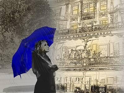 Rain Walk Art Print by Andre Pillay