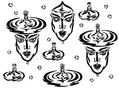 Drawing - Rain by Yelena Tylkina