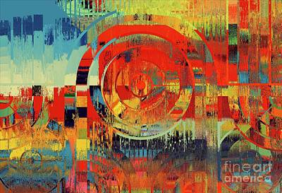 Multicolored Digital Art - Rainbolo-1t1i-023018149 by Variance Collections