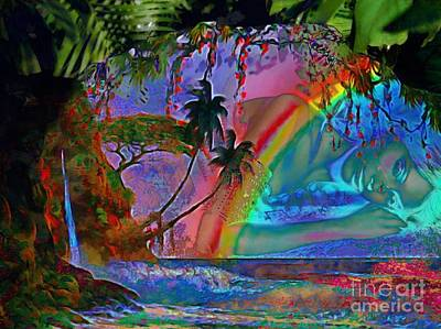 Rainboow Drenched In Layers Art Print