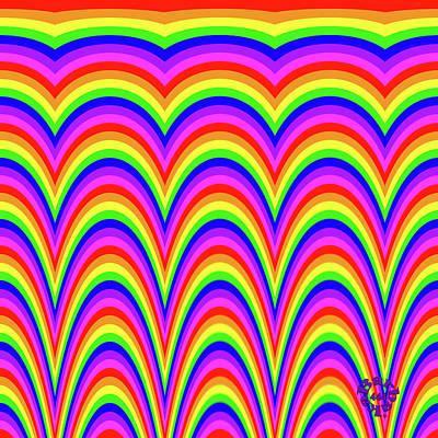 Digital Art - Rainbow #4 by Barbara Tristan