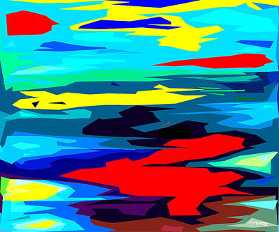 Colors Of The Rainbow Painting - Rainbow 4 by Patrick J Murphy