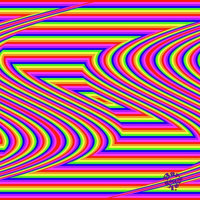 Digital Art - Rainbow #5 by Barbara Tristan