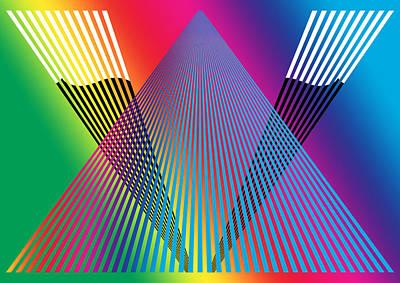 Optical Illusion Painting - Rainbow Abstract Digital Artwork by Georgeta Blanaru