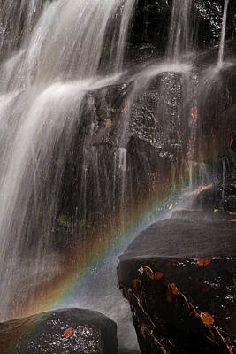 Photograph - Rainbow And Chapman Falls by Juergen Roth