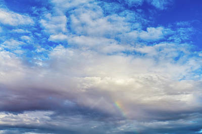 Photograph - Rainbow And Clouds At Sunset by SR Green