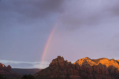 Photograph - Rainbow And Red Rocks by Laura Pratt