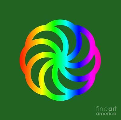 Rainbow Armenian Eternity Symbol Art Print by Frederick Holiday