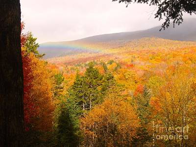 Painting - Rainbow At Flume Mt, Nh by Paul Galante