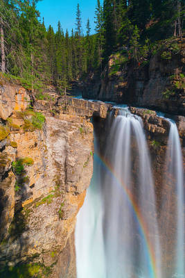 Photograph - Rainbow At Johnston Creek by Owen Weber