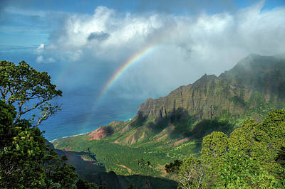 Photograph - Rainbow At Kalalau Valley by James Eddy