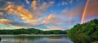 Photograph - Rainbow At Linville Land Harbor by Steve Hurt