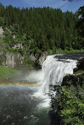 Photograph - Rainbow At Mesa Falls by Marie Leslie