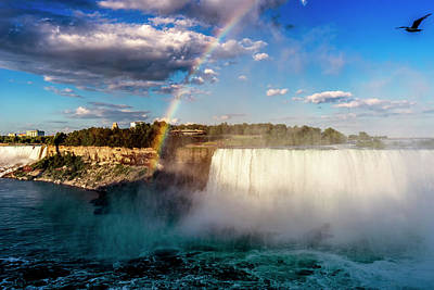 Photograph - Rainbow At Niagara Falls_dsc8679_16 by Greg Kluempers