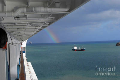 Photograph - Rainbow At Sea by Gary Wonning