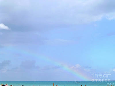 Digital Art - Rainbow At The Beach 1 by Francesca Mackenney