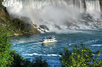 Photograph - Rainbow At The Falls by Pennie  McCracken