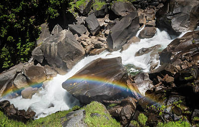 Photograph - Rainbow At Vernal Falls- by JD Mims
