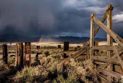 Corral Photograph - Rainbow At Zurich by Cat Connor