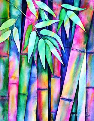 Painting - Rainbow Bamboo 2 by Zaira Dzhaubaeva