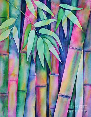 Painting - Rainbow Bamboo by Zaira Dzhaubaeva
