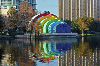 Photograph - Rainbow Bandshell by Denise Mazzocco