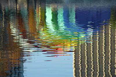 Photograph - Rainbow Bandshell Reflection by Denise Mazzocco