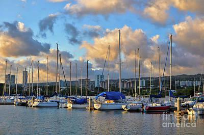 Photograph - Rainbow Bay Marina II by Gina Savage