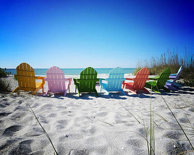 Gulf Coast Wall Art - Photograph - Rainbow Beach Vanilla Pop by Chris Andruskiewicz