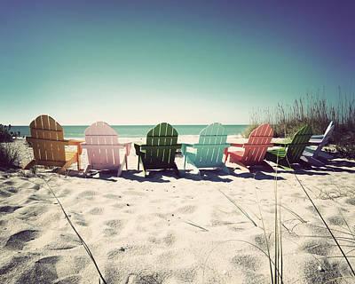 Rainbow Beach-vintage Art Print by Chris Andruskiewicz