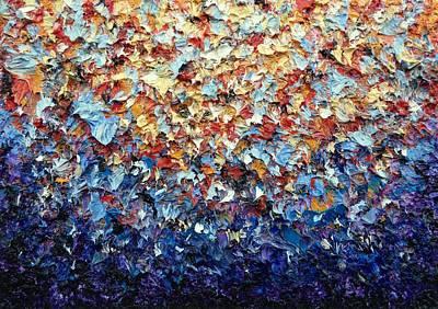 Impressionism Paintings - Rainbow Bloom by Rachel Bingaman
