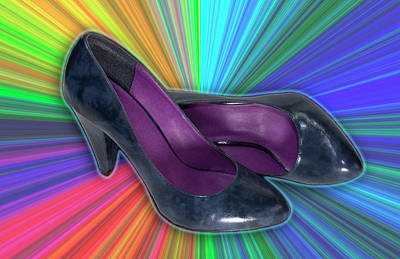 Photograph - Rainbow Blue Shoes by Patti Deters
