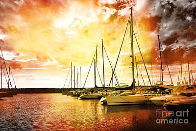 Photograph - Rainbow Boats by Ramona Matei