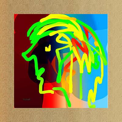 Digital Art - Rainbow Boy by Asok Mukhopadhyay