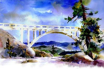 Painting - Rainbow Bridge Above Donnerlk#2 by Joan Chlarson
