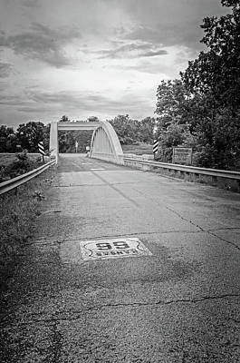 Photograph - Rainbow Bridge - Black And White by Susan McMenamin