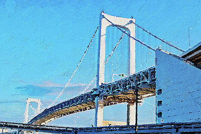 Painting - Rainbow Bridge In Tokyo by PixBreak Art