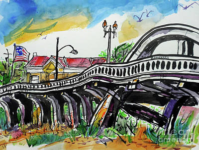 Painting - Rainbow Bridge Roseville by Terry Banderas