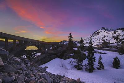 Photograph - Rainbow Bridge Sunrise, Truckee California by Jeremy Jensen
