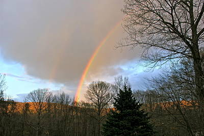 Photograph - Rainbow Brightest  1 by Cliff Spohn
