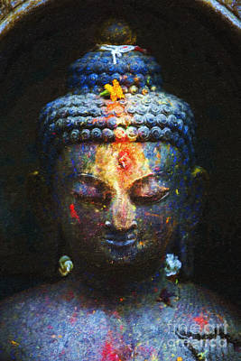 Religious Drawings Photograph - Rainbow Buddha by Tim Gainey