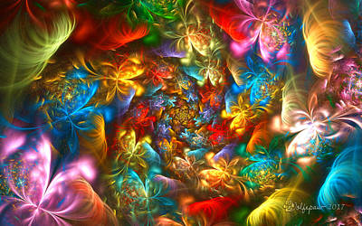 Convention Digital Art - Rainbow Butterfly Convention by Peggi Wolfe