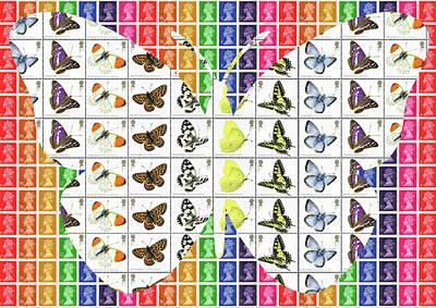 Digital Art - Rainbow Butterfly by Gary Hogben