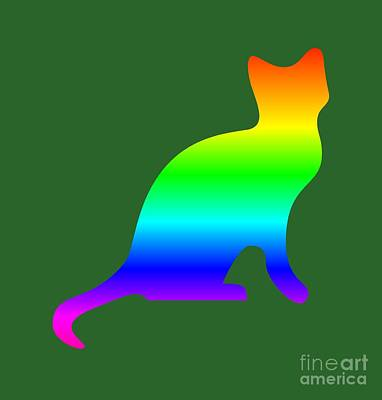 Rainbow Cat Art Print by Frederick Holiday